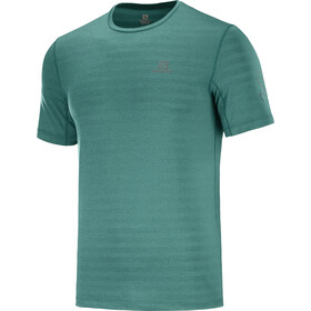Salomon Outline SS Tee Men, pacific/heather